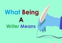 what being a writer means