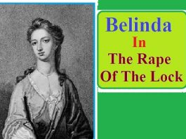 "Character of Belinda in ""The Rape of The Lock"""