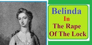 "Character of Belinda in ""The Rape of The Lock"""