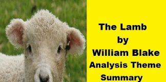 the lamb william blake theme