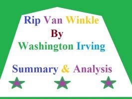 Rip Van Winkle by Washington Irving Summary