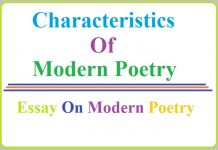 characteristics of modern poetry