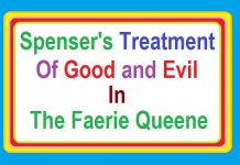 spenser's treatment of good and evil in 'the faerie queene' Book 1, Canto I